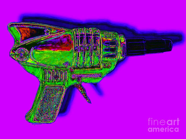 Spacegun Art Print featuring the photograph Spacegun 20130115v4 by Wingsdomain Art and Photography