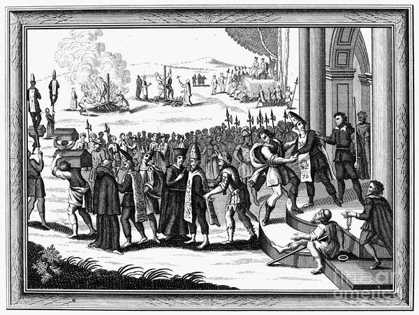 18th Century Art Print featuring the photograph Spanish Inquisition by Granger
