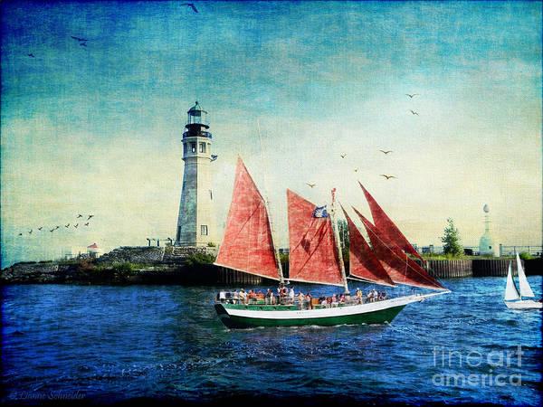 Ship Art Print featuring the digital art Spirit Of Buffalo by Lianne Schneider