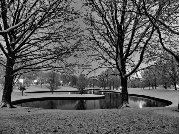 Jefferson National Expansion Memorial Print featuring the photograph St. Louis - Winter At The Arch 001 by Lance Vaughn