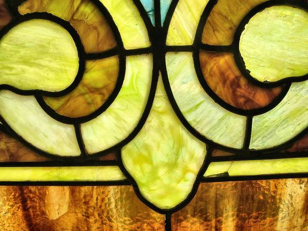 Stained Glass 3 Art Print featuring the photograph Stained Glass 3 by Tom Druin