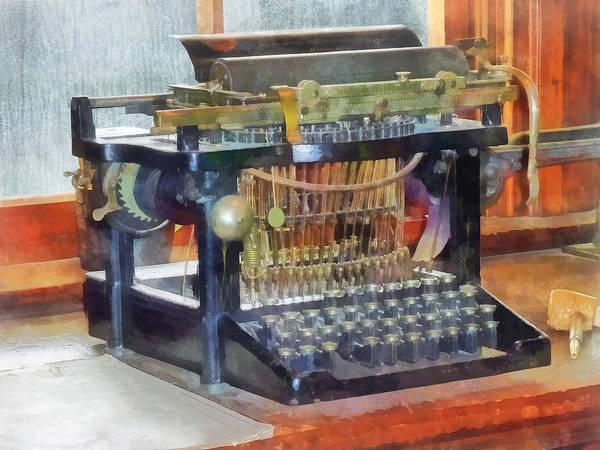 Typewriter Art Print featuring the photograph Steampunk - Vintage Typewriter by Susan Savad