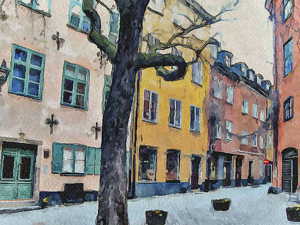 Stockholm Print featuring the digital art Stockholm 14 by Yury Malkov
