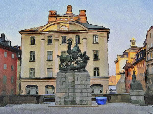 Stockholm Art Print featuring the digital art Stockholm 6 by Yury Malkov