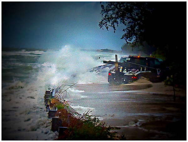 Storm Art Print featuring the photograph Storm Version - 1 by Larry Mulvehill