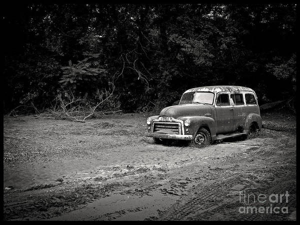 Vintage Art Print featuring the photograph Stuck In The Mud by Edward Fielding