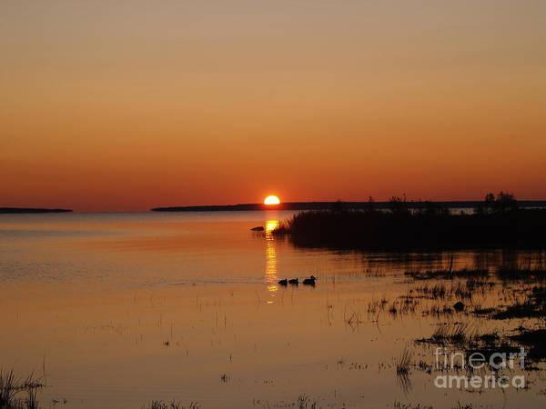 Mackinac Straits Art Print featuring the photograph Sunrise On Mackinaw by Melissa McDole