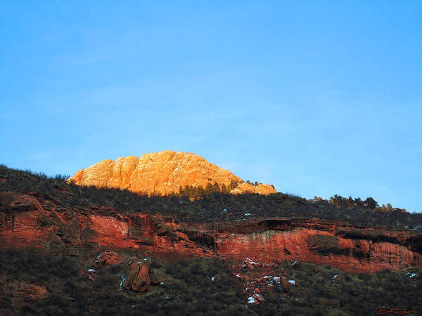 Mountain Sunset Art Print featuring the photograph Sunset On Horsetooth Mountain by Ric Soulen