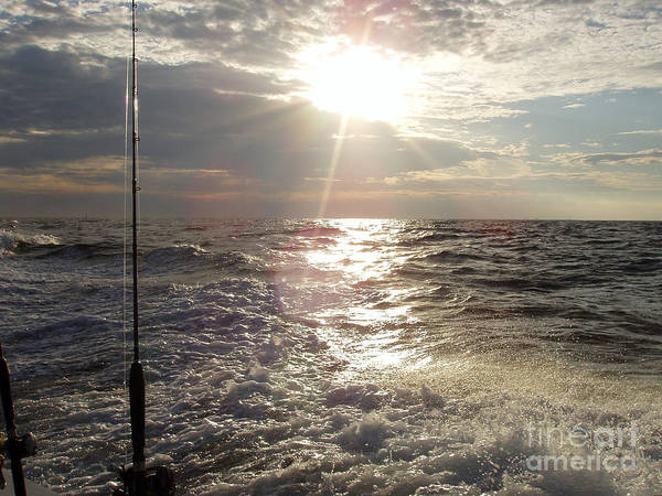 Sunset Over Nj After Fishing Art Print featuring the photograph Sunset Over Nj After Fishing by John Telfer