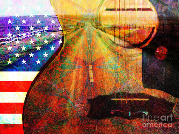 Music Art Print featuring the photograph Take Me Home Country Roads 20140716 by Wingsdomain Art and Photography