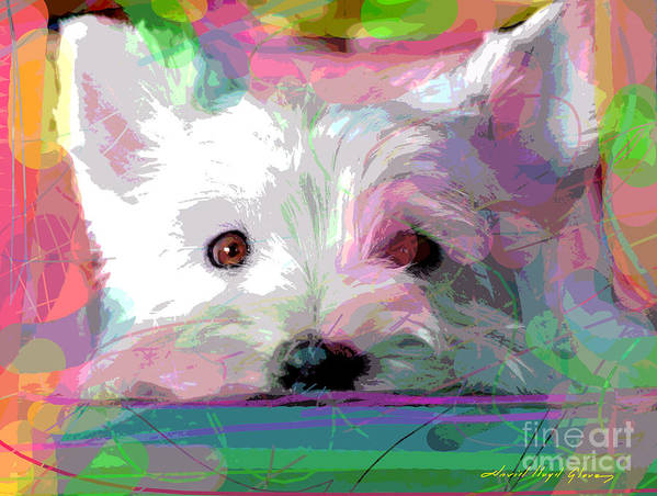 Dogs Art Print featuring the painting Take Me Home by David Lloyd Glover