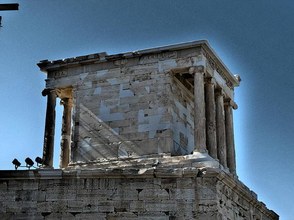 Travel Art Print featuring the photograph Temple Of Athena Nike by James R Martin