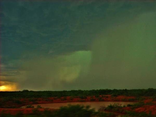 Texas Art Print featuring the photograph Texas Microburst by Ed Sweeney