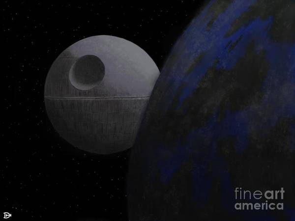 Death Star Art Print featuring the digital art ...that's No Moon... by Andy Heavens