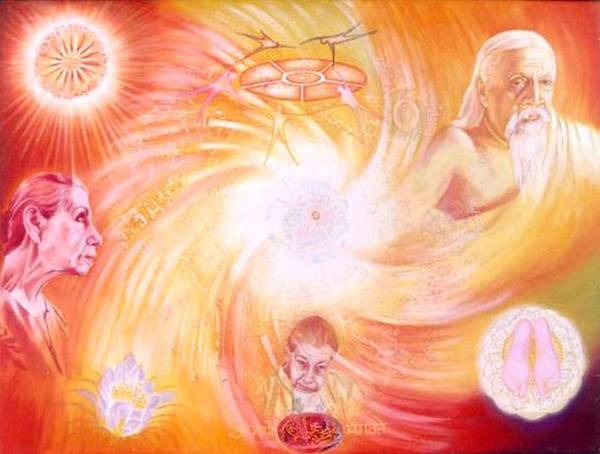 Auroville Art Print featuring the painting The Golden Dream by Shiva Vangara