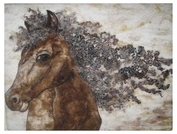 Horse Art Print featuring the tapestry - textile The Mane Affair by Bonnie Nash