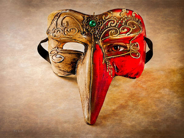 Mask Art Print featuring the photograph The Mask On The Floor by Bob Orsillo