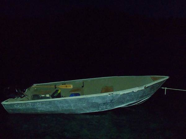 Crestliner Art Print featuring the photograph The Old Crestliner In Dark Waters by Jan Moore
