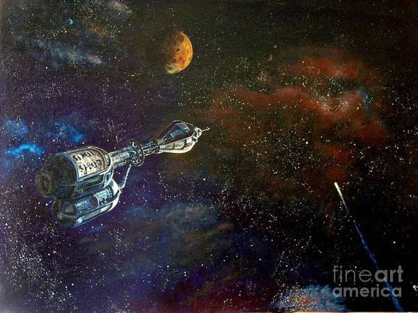 Vista Horizon Art Print featuring the painting The Search For Earth by Murphy Elliott