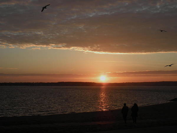 Narragansett Bay Art Print featuring the photograph The Sky Is Falling by Kate Gallagher