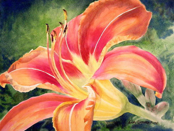 Flower Art Print featuring the painting Tiger Lily by Lisa Pope