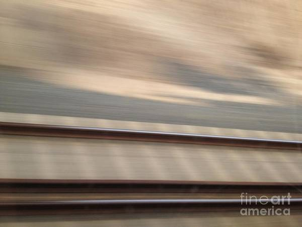 Train Art Print featuring the photograph Train In Motion - On The Way To San Diego by Nora Boghossian
