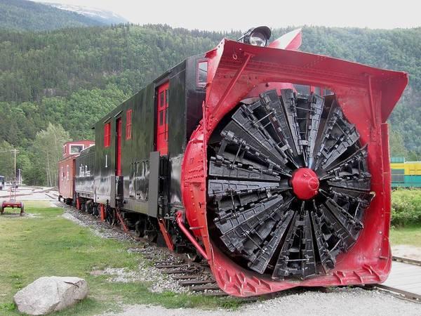 Transportation Art Print featuring the photograph Train Snowplow by Steven Parker