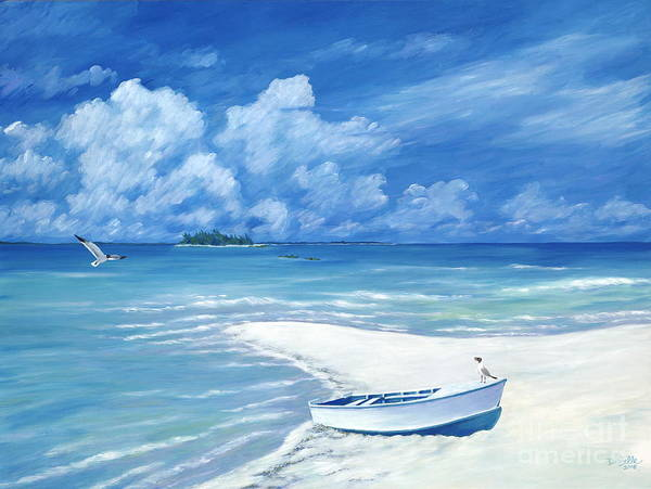 Seascape Art Print featuring the painting Treasure Cay by Danielle Perry