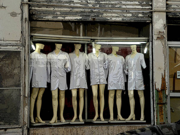 Mannequins Art Print featuring the photograph Tunesian Mannequins by Donna Lee Young
