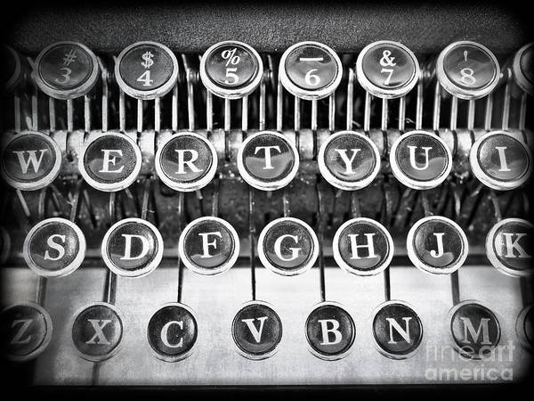 Word Art Print featuring the photograph Vintage Typewriter by Edward Fielding