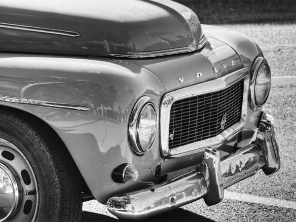 Volvo In Black And White Art Print featuring the photograph Volvo Black And White by Thomas Young
