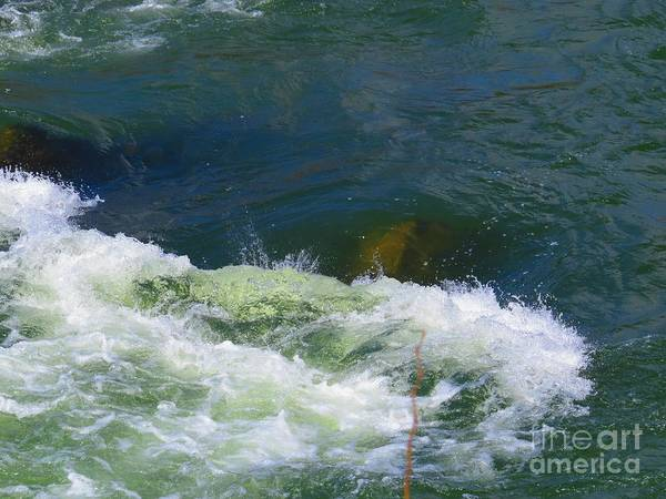 Great Falls Art Print featuring the photograph Water Detail 01 by Rrrose Pix