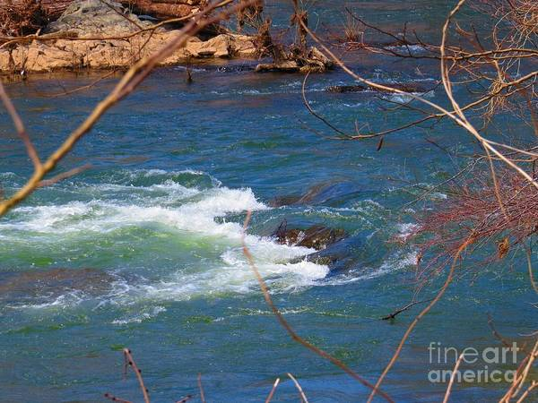 Great Falls Art Print featuring the photograph Water Detail 03 by Rrrose Pix