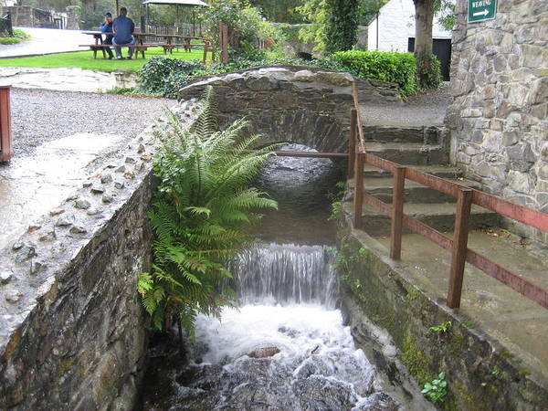 Ballykissangel Art Print featuring the photograph Waterfall Outside The Fish Place In Ballykissangel by Dotti Hannum