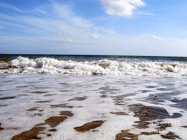 Waves Art Print featuring the photograph Waves by Ramona Matei