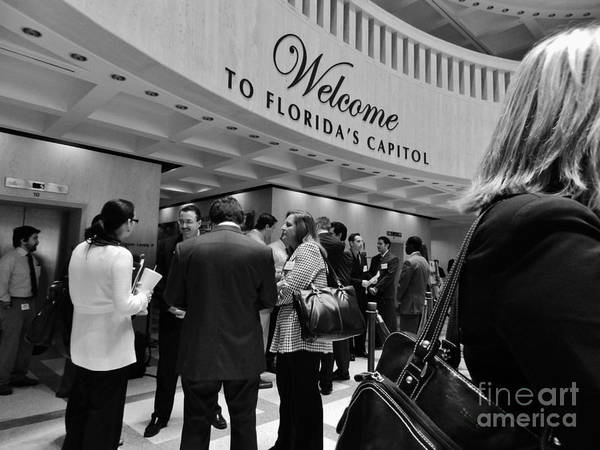 Welcome Art Print featuring the photograph Welcome To The Florida Capitol by Robert Ulmer
