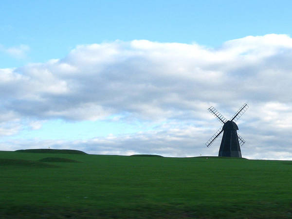 Blue Sky Art Print featuring the photograph Windmill In Southern England by Alex Zorychta