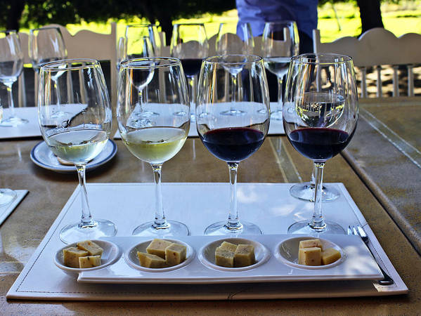Wine Art Print featuring the photograph Wine And Cheese Tasting by Kurt Van Wagner