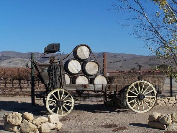 Wine Art Print featuring the photograph Wine Wagon by Jewels Blake Hamrick