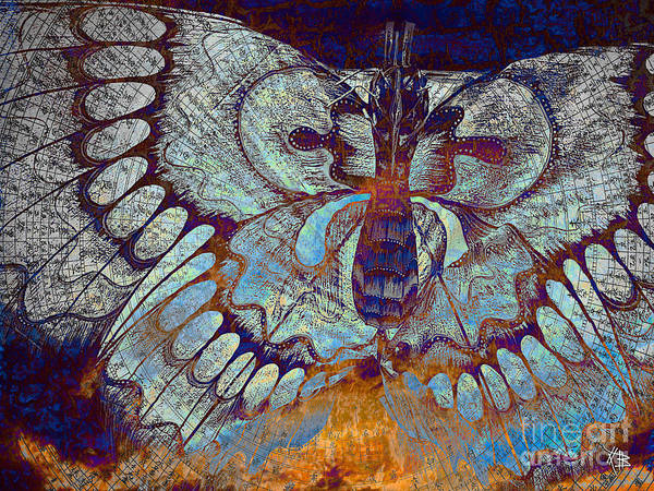 Butterfly Art Print featuring the mixed media Wings Of Destiny by Christopher Beikmann
