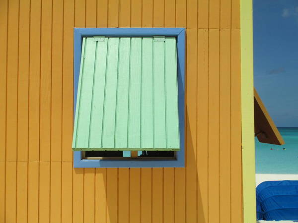 Caribbean Corner Art Print featuring the photograph Yellow Cabin by Randall Weidner