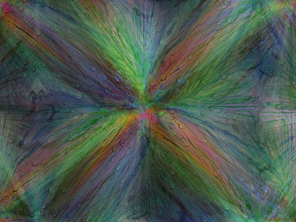 Abstract Art Print featuring the digital art After The Rain 3 by Tim Allen