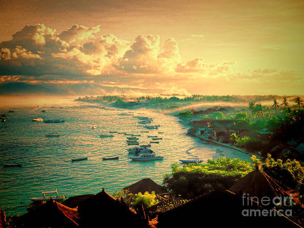 Indonesian Art Print featuring the photograph Bali Indonesia View by RJ Aguilar