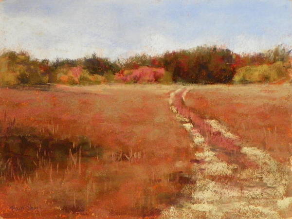 Landscape Art Print featuring the pastel Country Roads by Pam Short