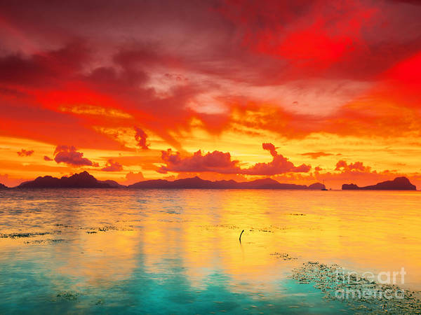 Sunset Art Print featuring the photograph Fantasy Sunset by MotHaiBaPhoto Prints