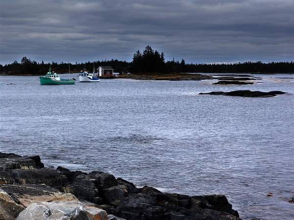 Nova Scotia Art Print featuring the photograph Late October In Blue Rocks by George Cousins