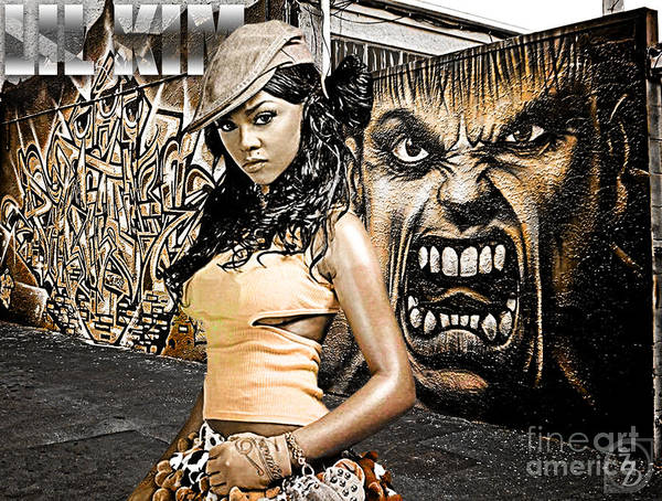 Digital Art Art Print featuring the digital art Lil Kim by The DigArtisT