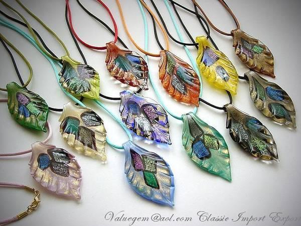 Marano Jewelry Glass Art Print featuring the mixed media Marano Jewelry by Deborah Juodaitis