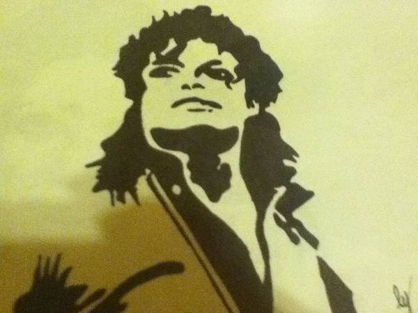 Michael Jackson Art Print featuring the drawing Michael Jackson by Damian Howell