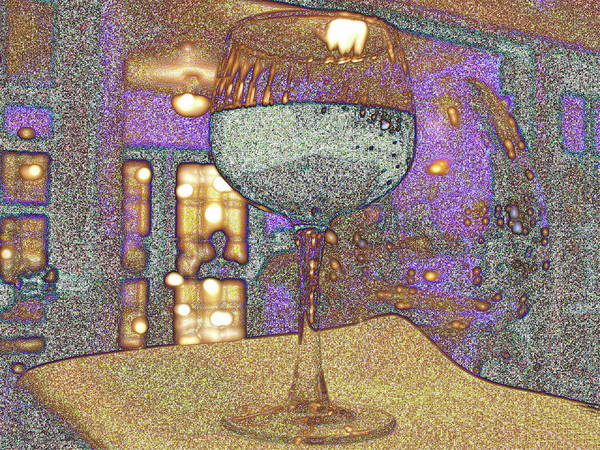 Wine Art Print featuring the photograph Wine Glass by Michael Merry